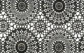 Fekete csipke - dekor öntapadós fólia (45 cm x 15 m)