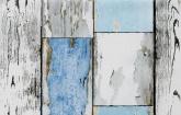 Kék kopott deszka - dekor öntapadós fólia (67,5 cm x 15 m)