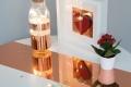 Rosegold, magasfényű öntapadós fólia (45 cm x 15 m)