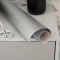 Szálhúzott ezüst öntapadós fólia (67,5 cm x 10 m)