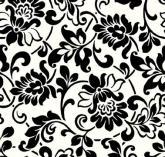 Fekete-fehér klasszikus minta - öntapadós fólia (45 cm x 15 m)