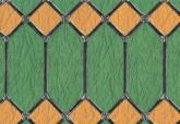 Zöld-sárga ólomüveg - öntapadós üvegfólia (45 cm x 15 m)
